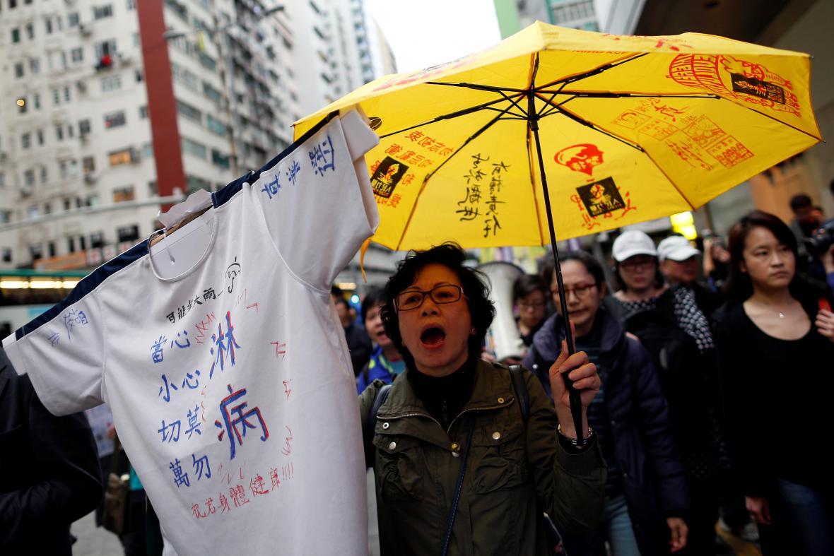 Protest proti pekingskému vměšování