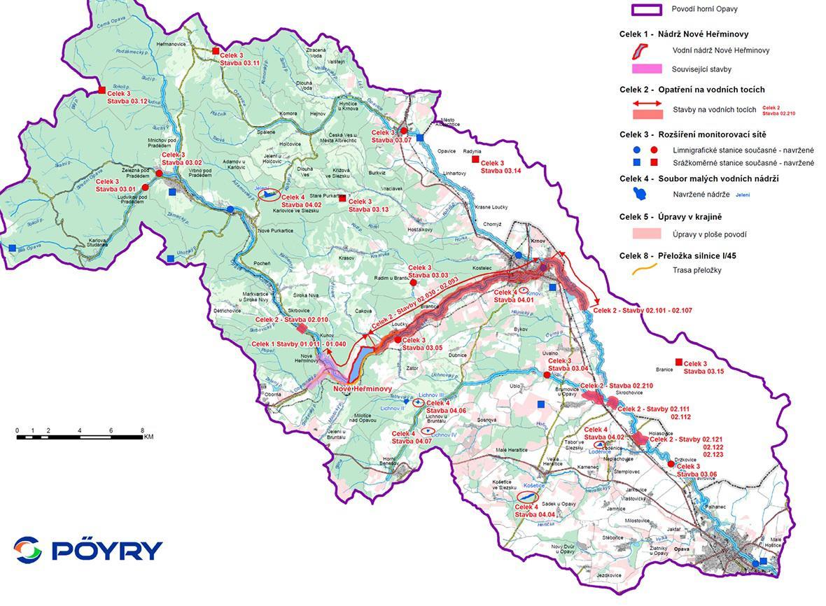 Opatření v ploše povodí řeky Opavy