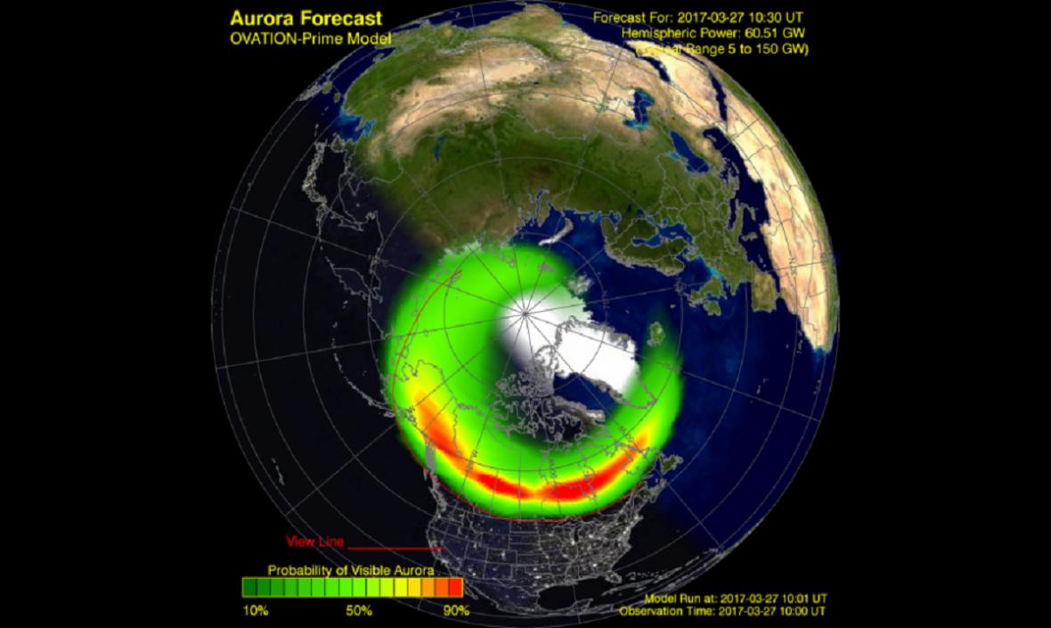Geomagnetická bouře na Severem Evropy