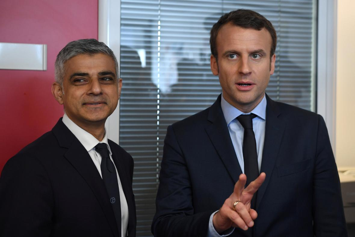 Sediq Khan a Emmanuel Macron