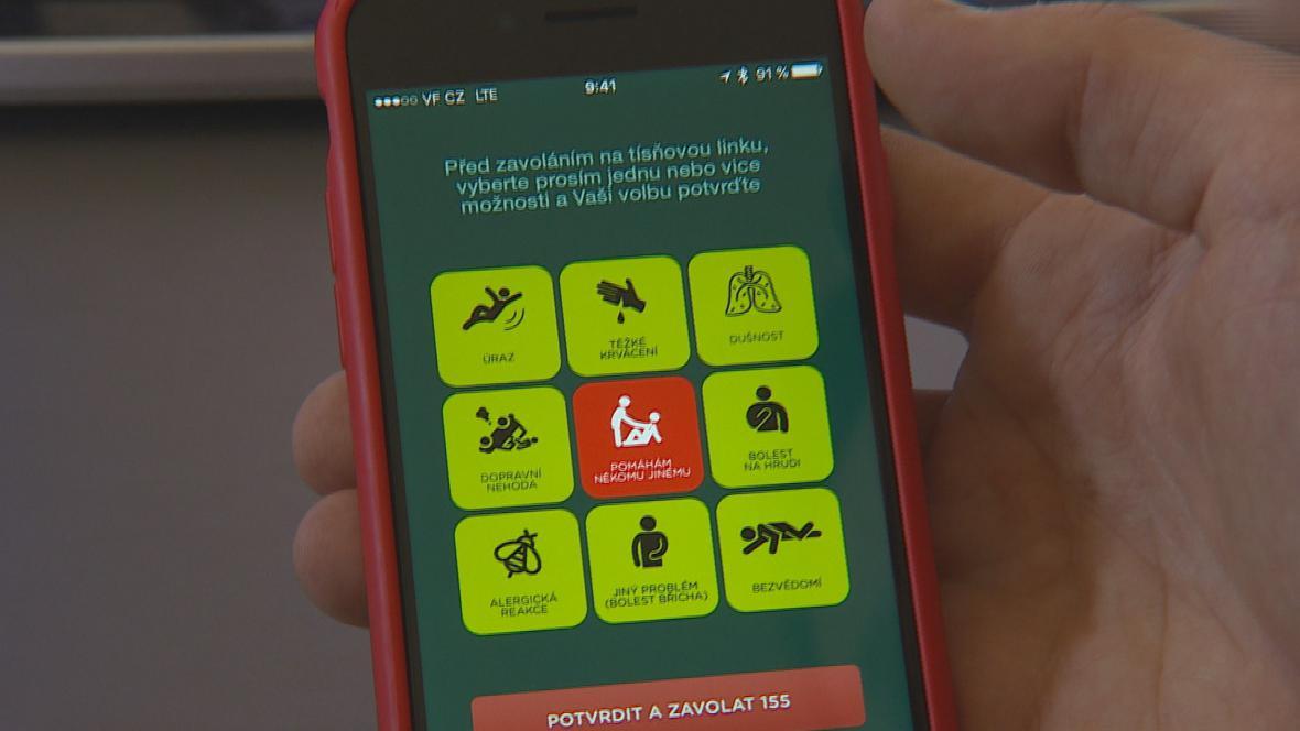 Ikony pro neslyšící v aplikaci Záchranka