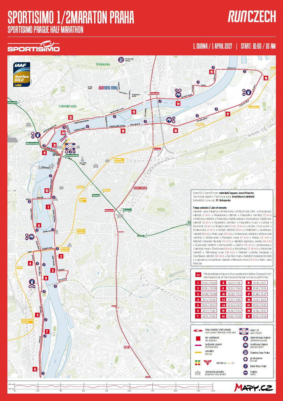 Trasa půlmaratonu