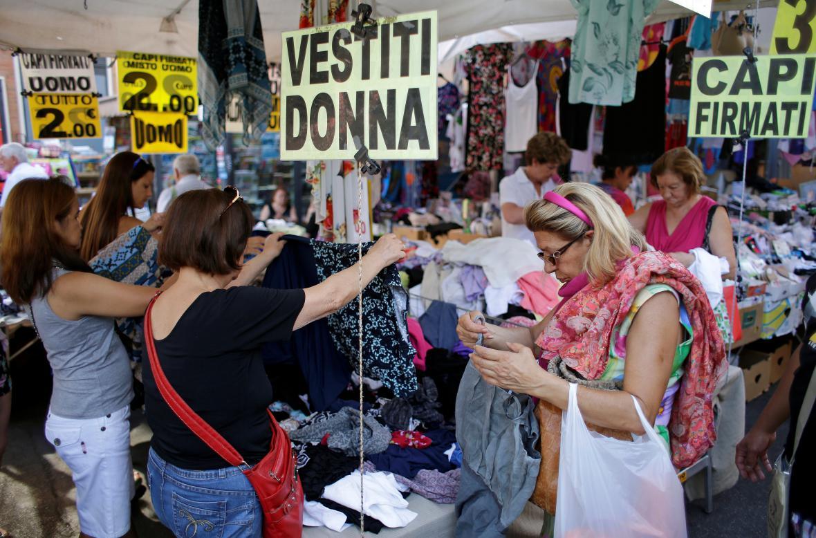 Nákupy v Římě