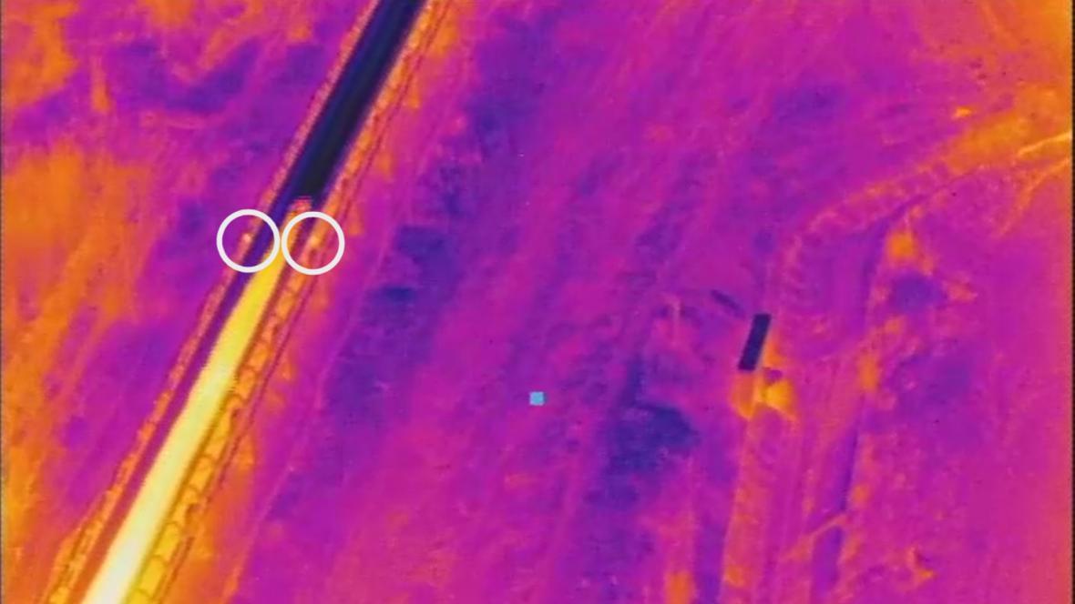 Dron odhalil přehřáté válečky na dopravníku