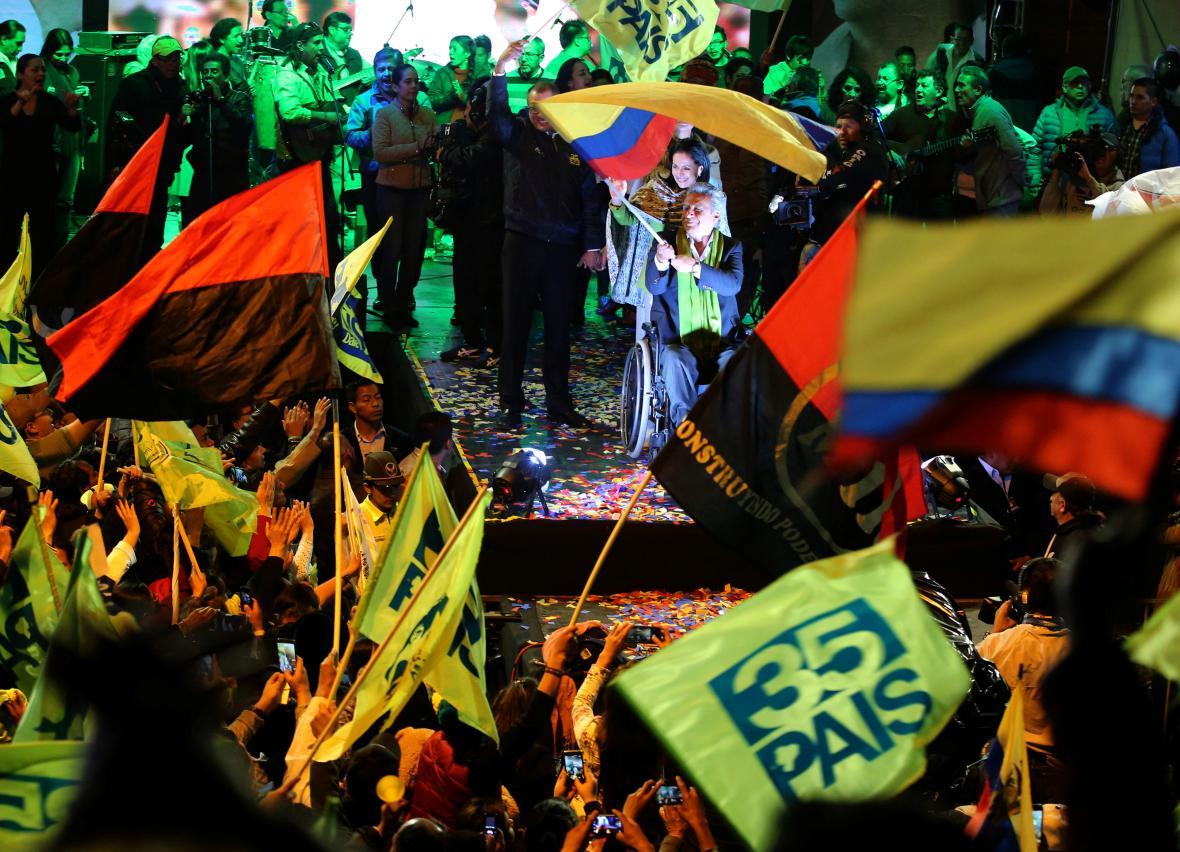 Stoupenci nového ekvádorského prezidenta