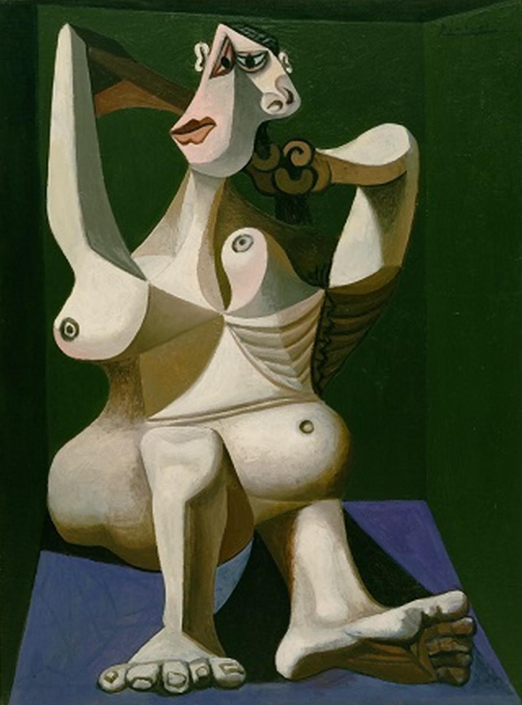 Pablo Picasso / Žena česající si vlasy, 1940