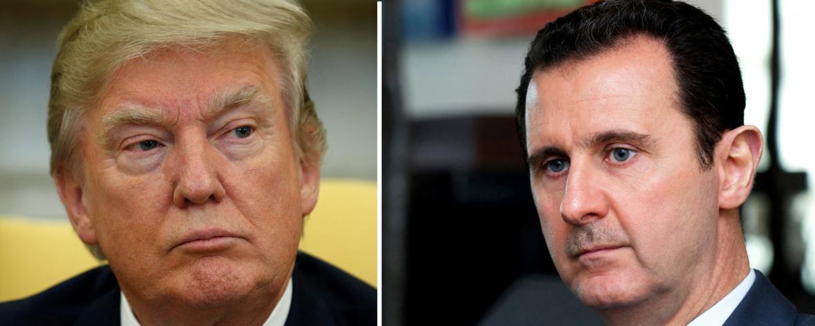 Prezidenti Donald Trump a Bašár Asad