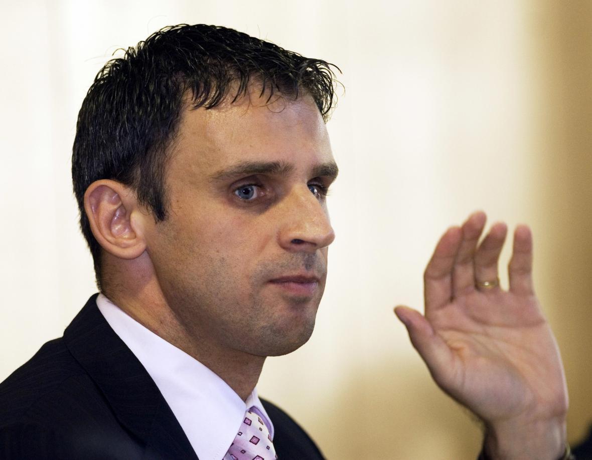 Jiří Zimola po zvolení hejtmanem v roce 2008
