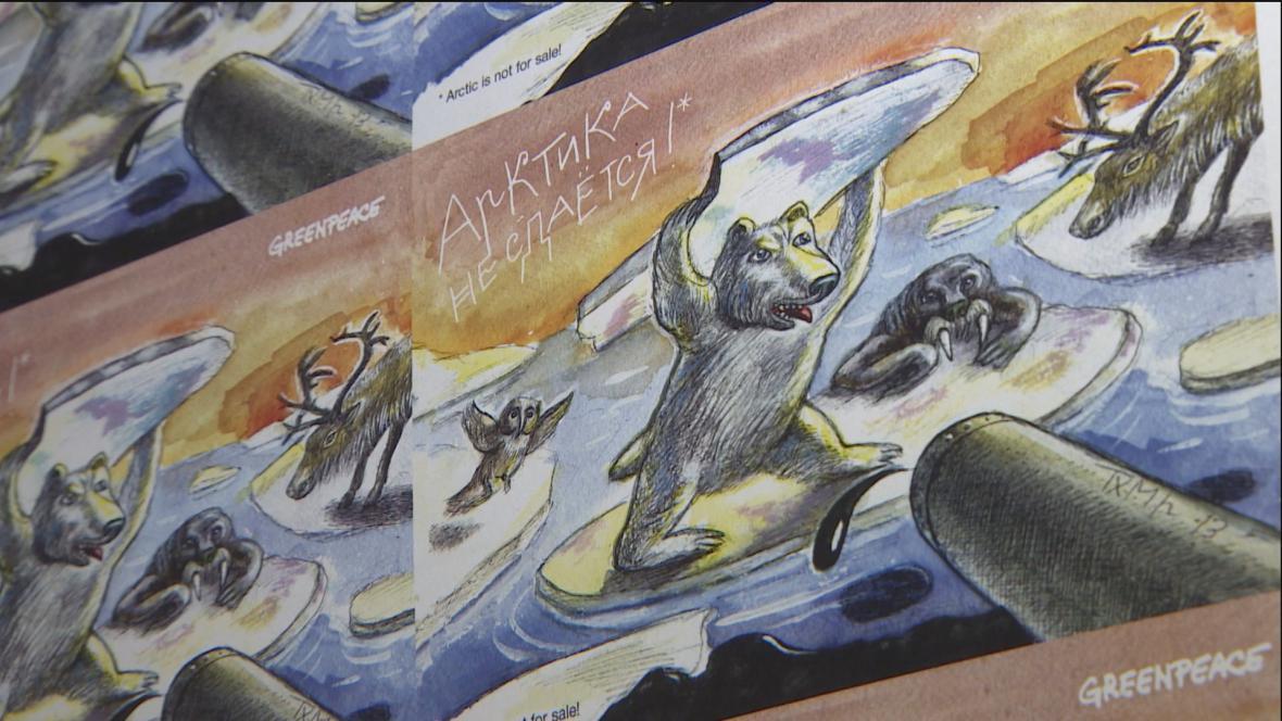 Kampaň Greenpeace proti těžbě v Arktidě