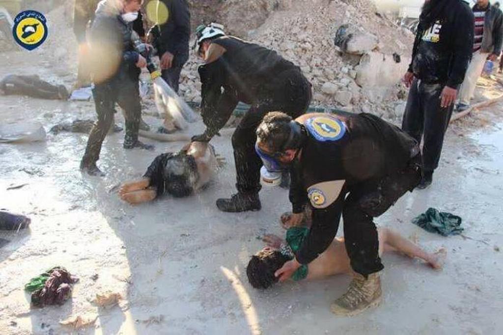 Záchranáři syrských rebelů - tzv. Bílé helmy
