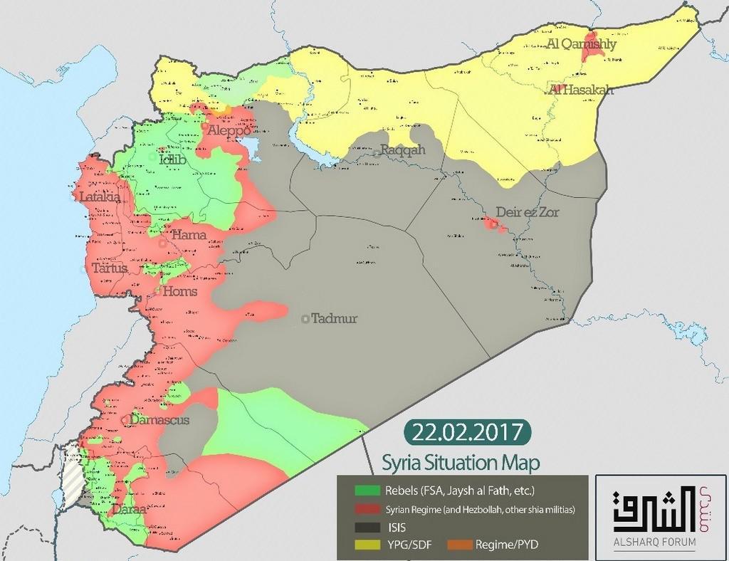 Rozdělení sil v Sýrii