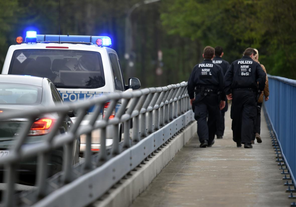 Německá policie v Dortmundu