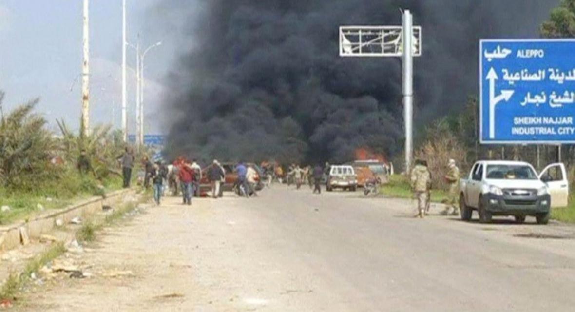 Výbuch u evakuačního konvoje v Sýrii