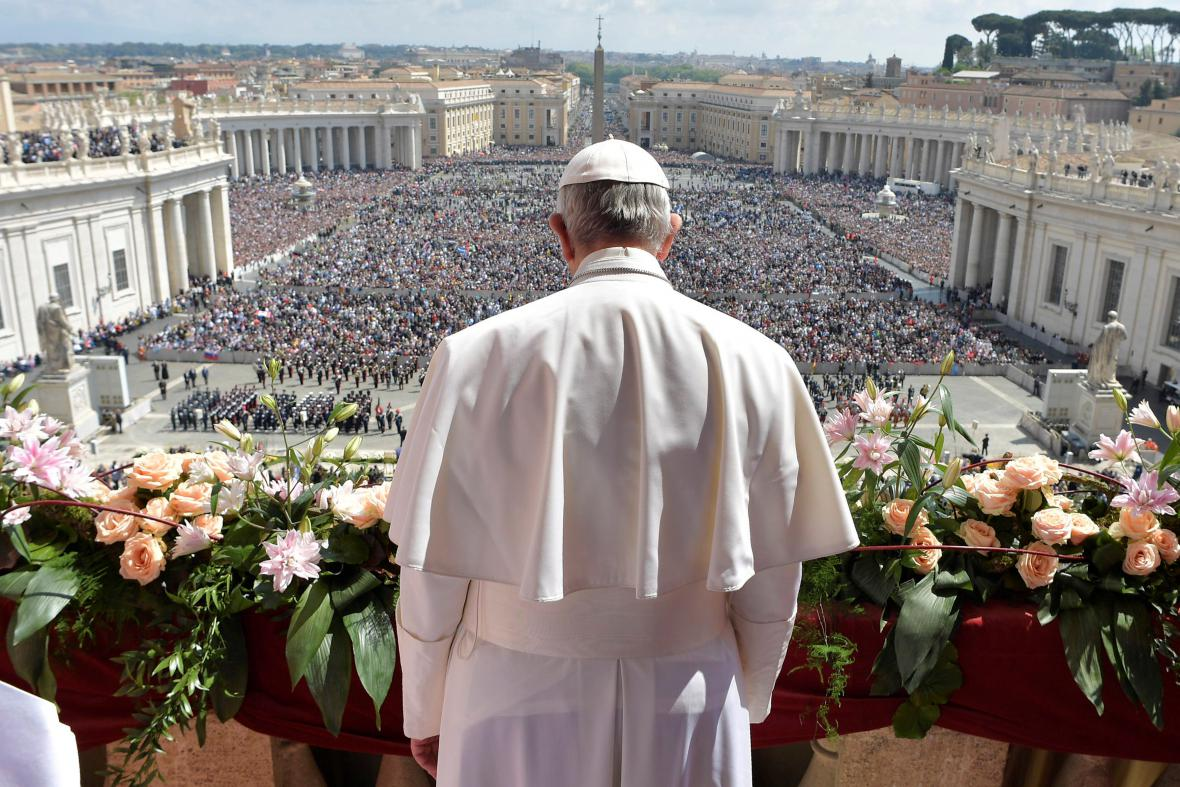 Papež František při požehnání Urbi et Orbi