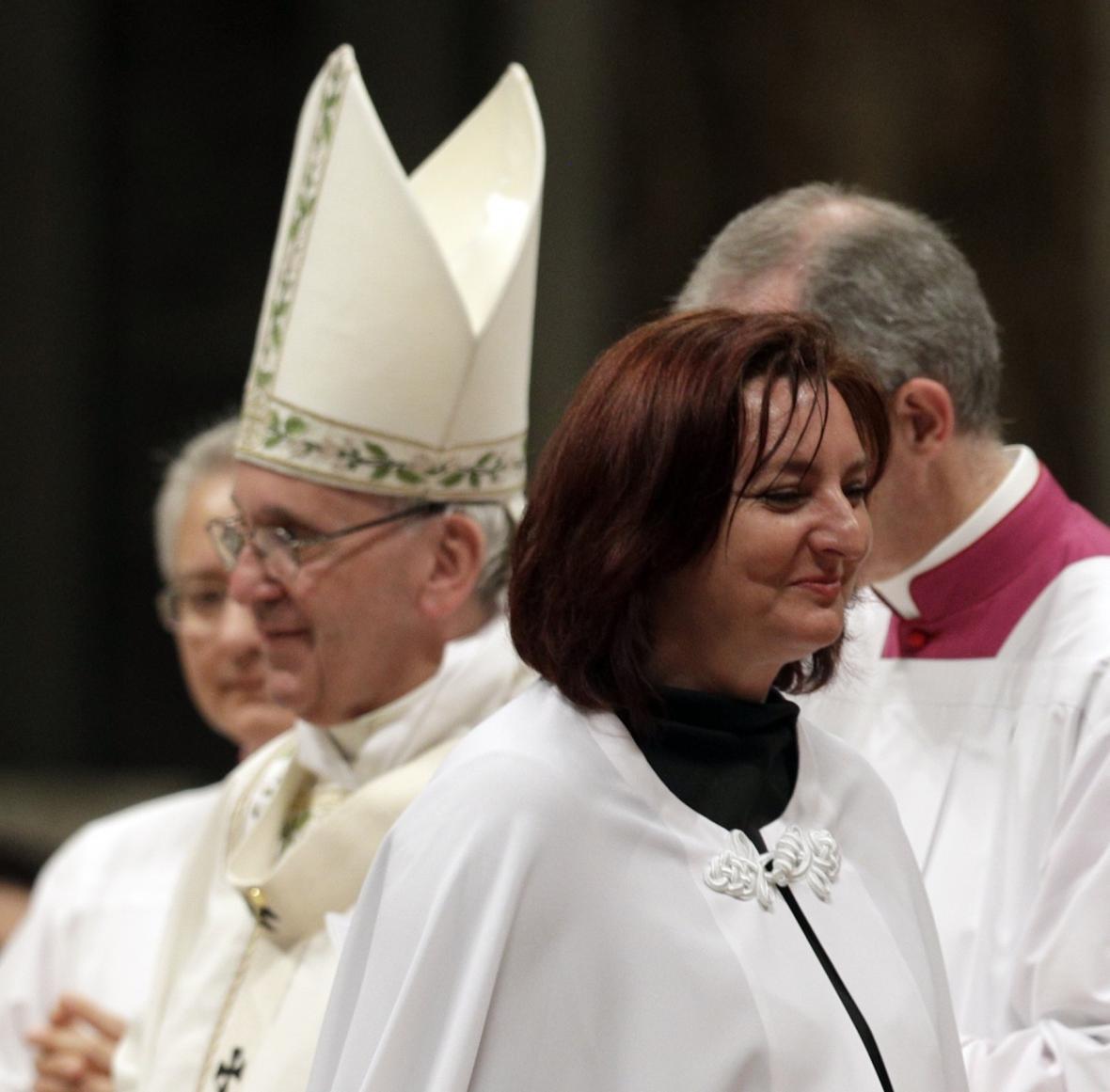 Papež František a Taťána Čempelová
