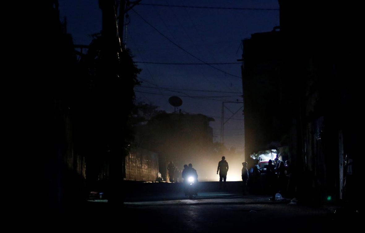 Odstávky elektřiny v Gaze
