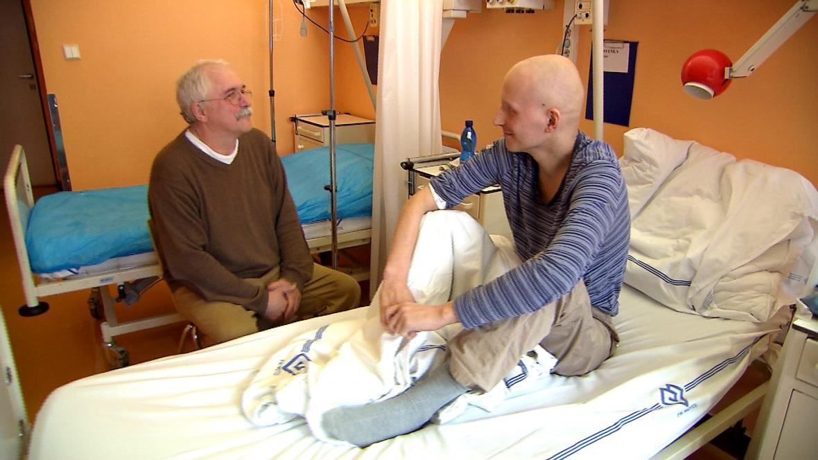 Miroslav Červenka se svými otcem