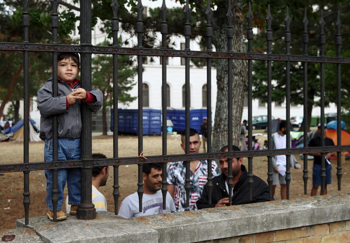 Uprchlický tábor Traiskirchen