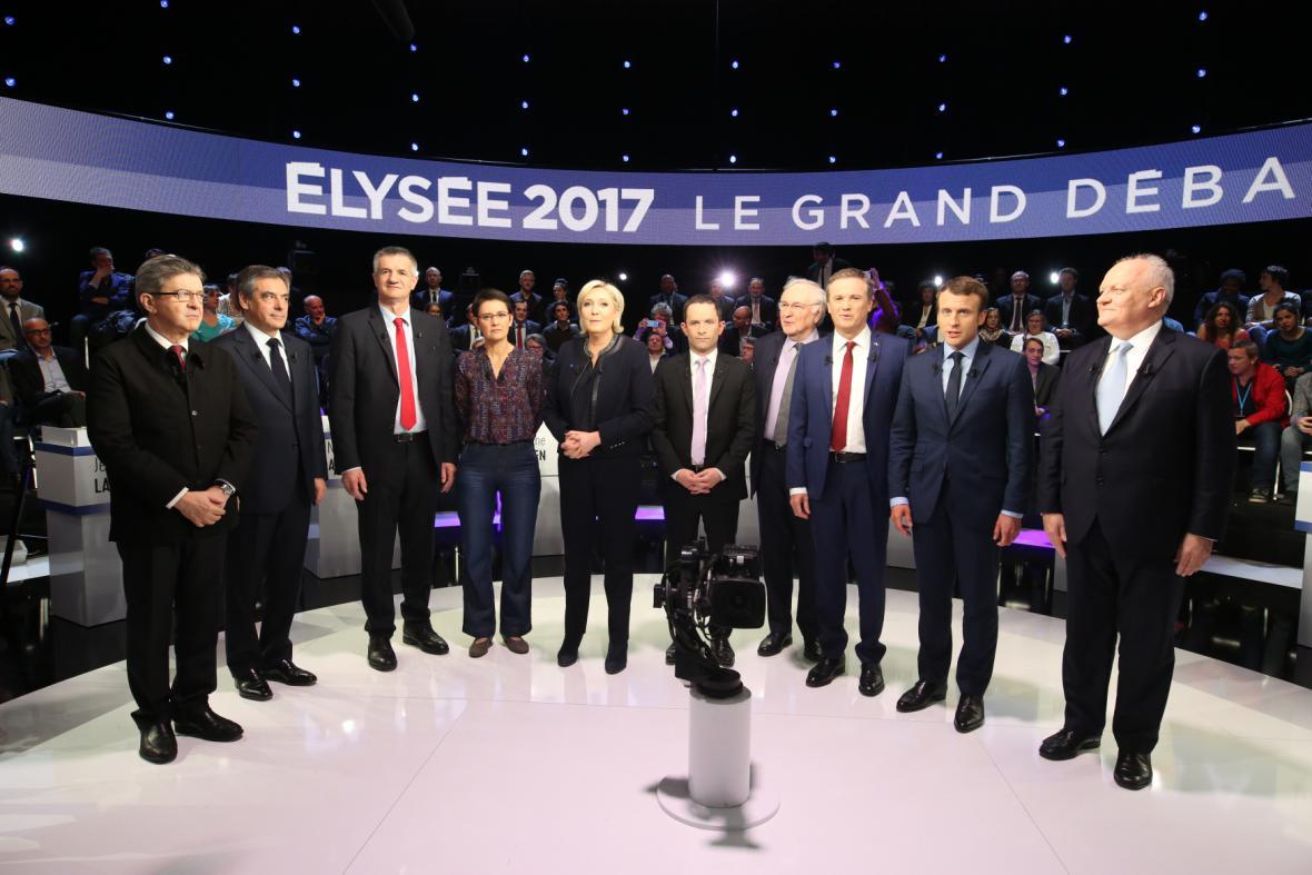 Kandidáti pro francouzské prezidentské volby 2017