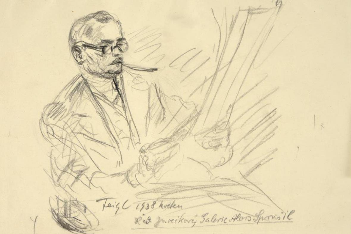 Podobizna Aloise Sprušila od Bedřicha Feigela