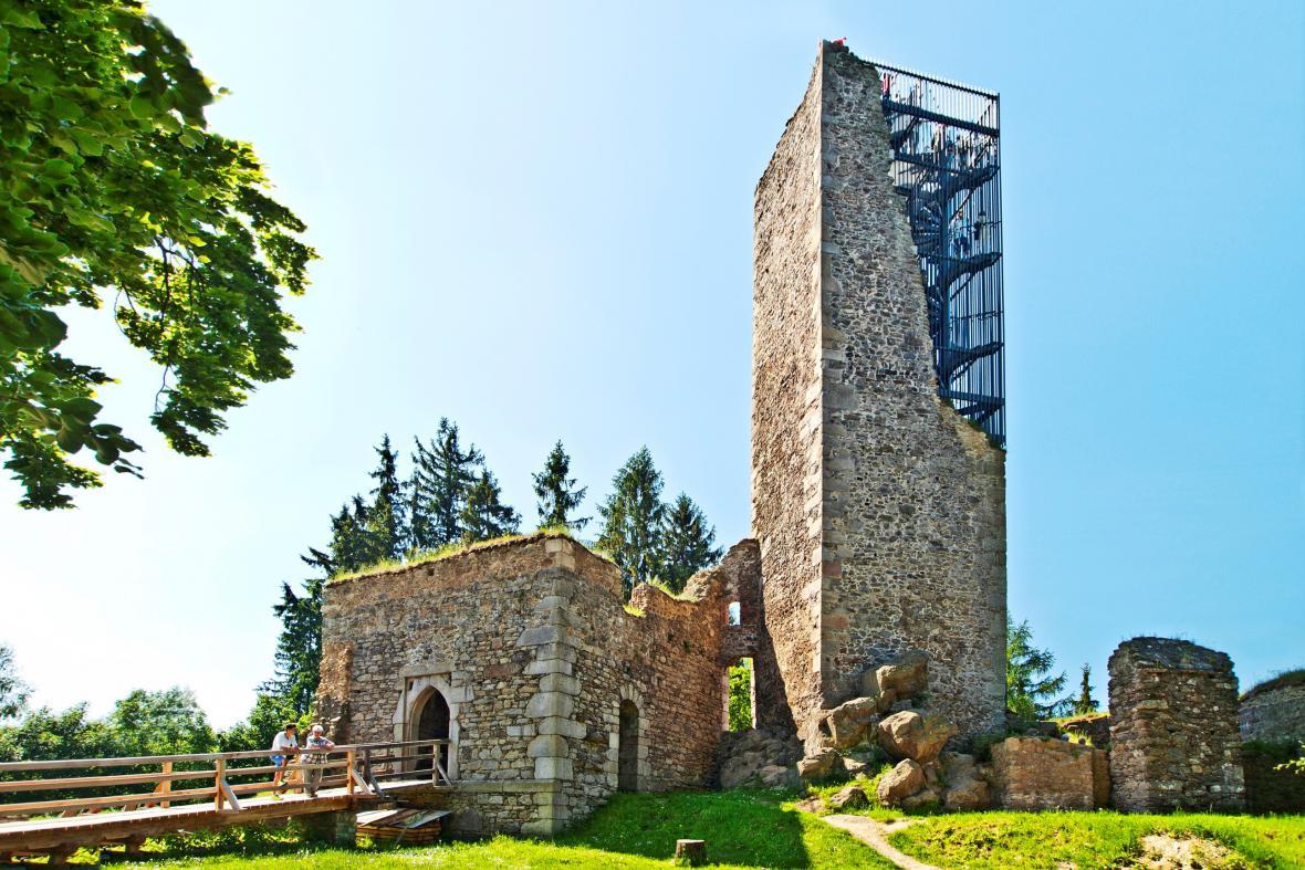 Vyhlídková věž na hradě Orlík u Humpolce, Martin Franěk, 2014-2015