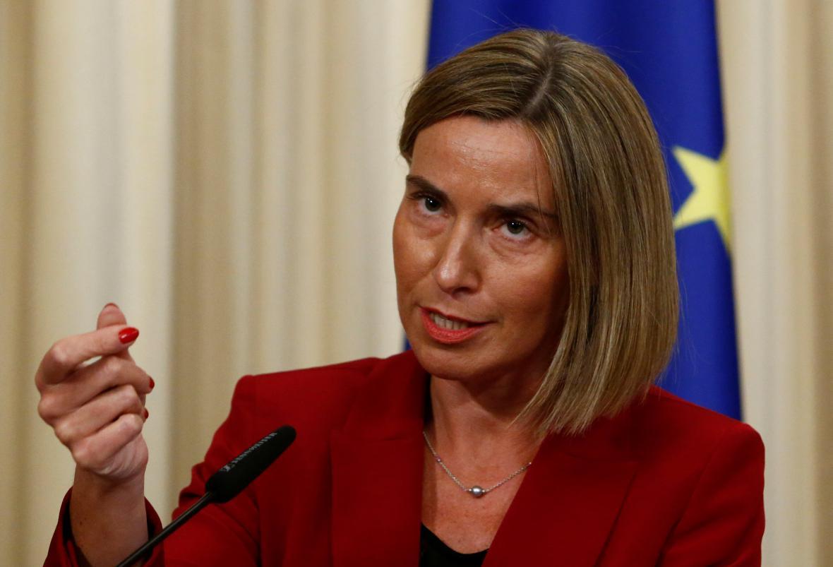 Federica Mogheriniová během návštěvy Ruska