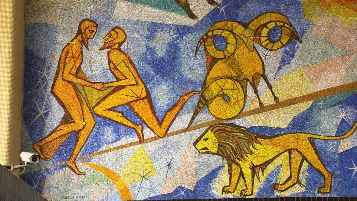 Mozaika na pardubickém nádraží