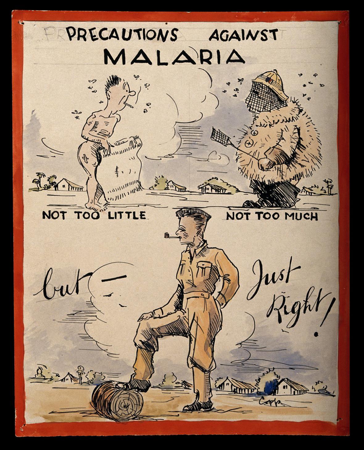 Rada koloniálním vojákům, jak se bránit malárii