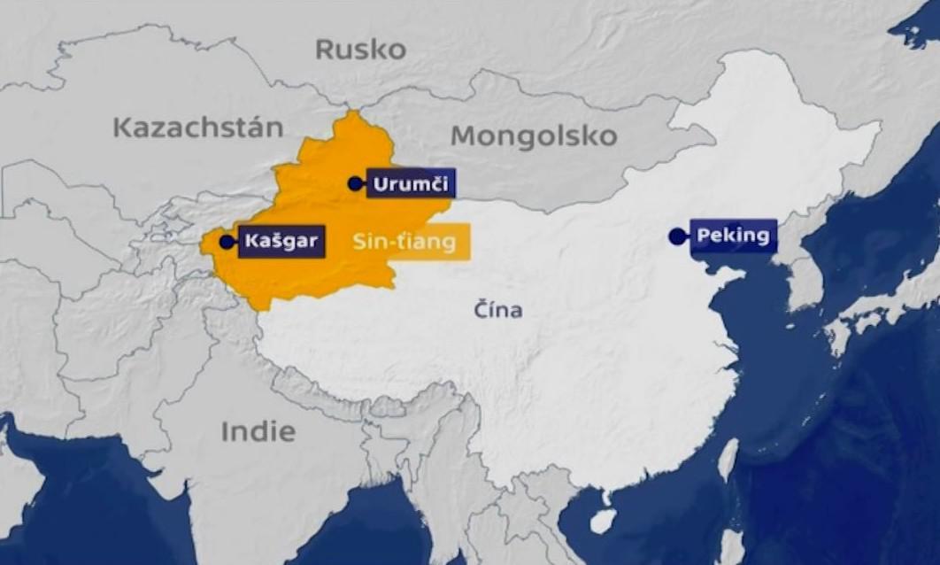 Oblast, kde žijí Ujgurové