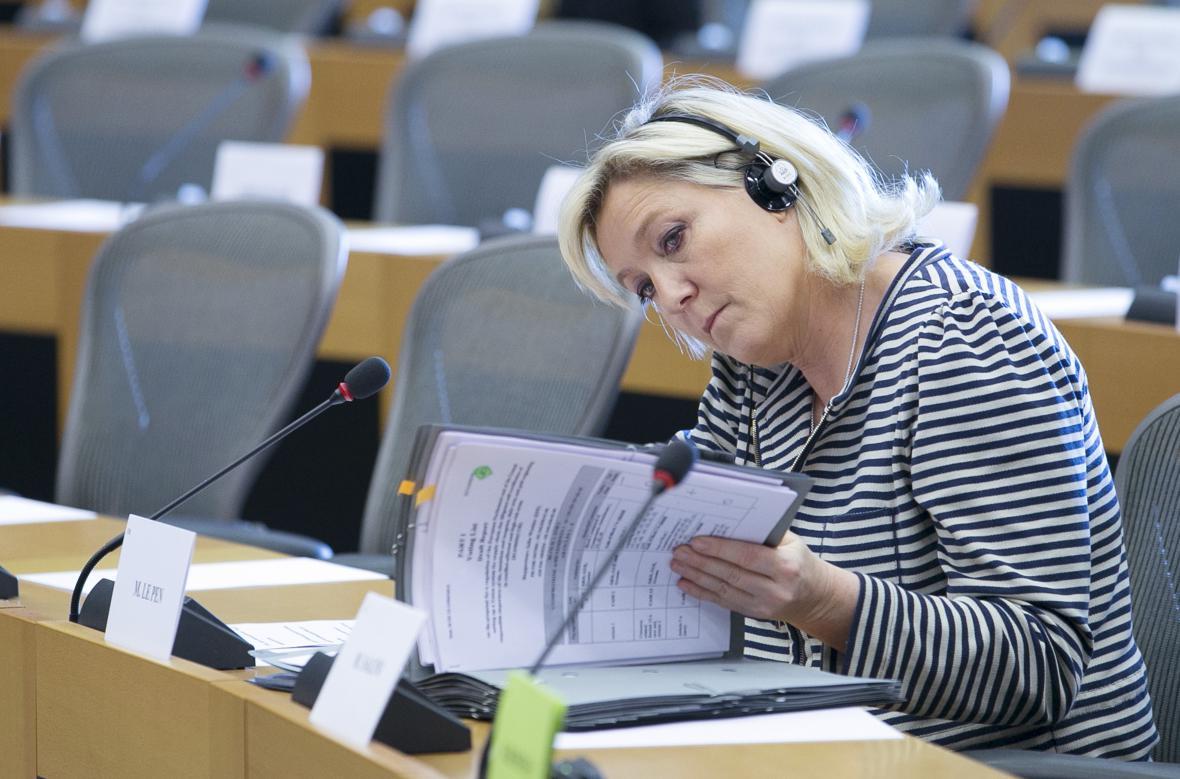 Marine Le Penová v Evropském parlamentu