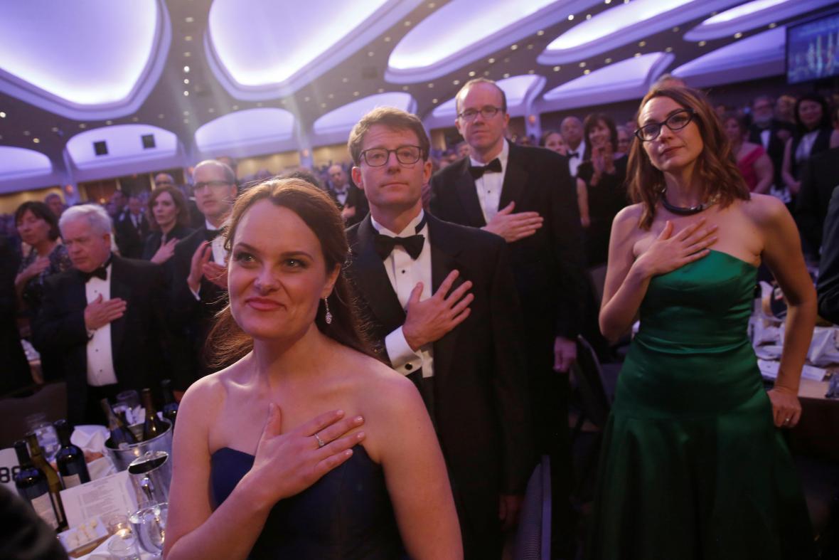 Slavnostní večeře pořádaná asociací korespondentů v Bílém domě