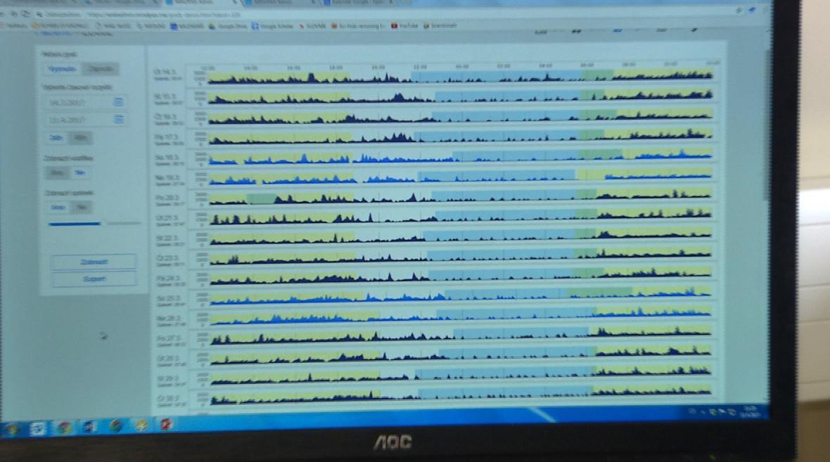 Data se pomocí chytrého telefonu odesílají k lékaři