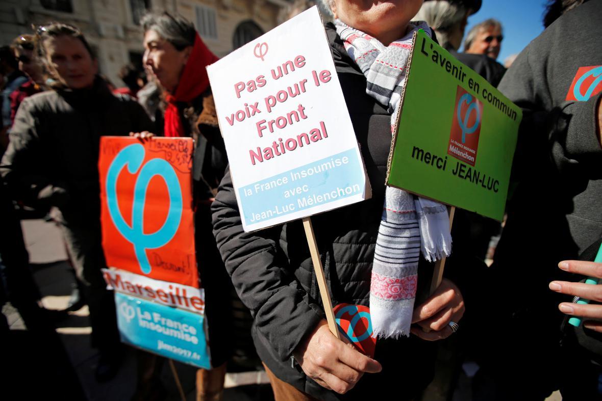 Odpůrci Marine Le Penové