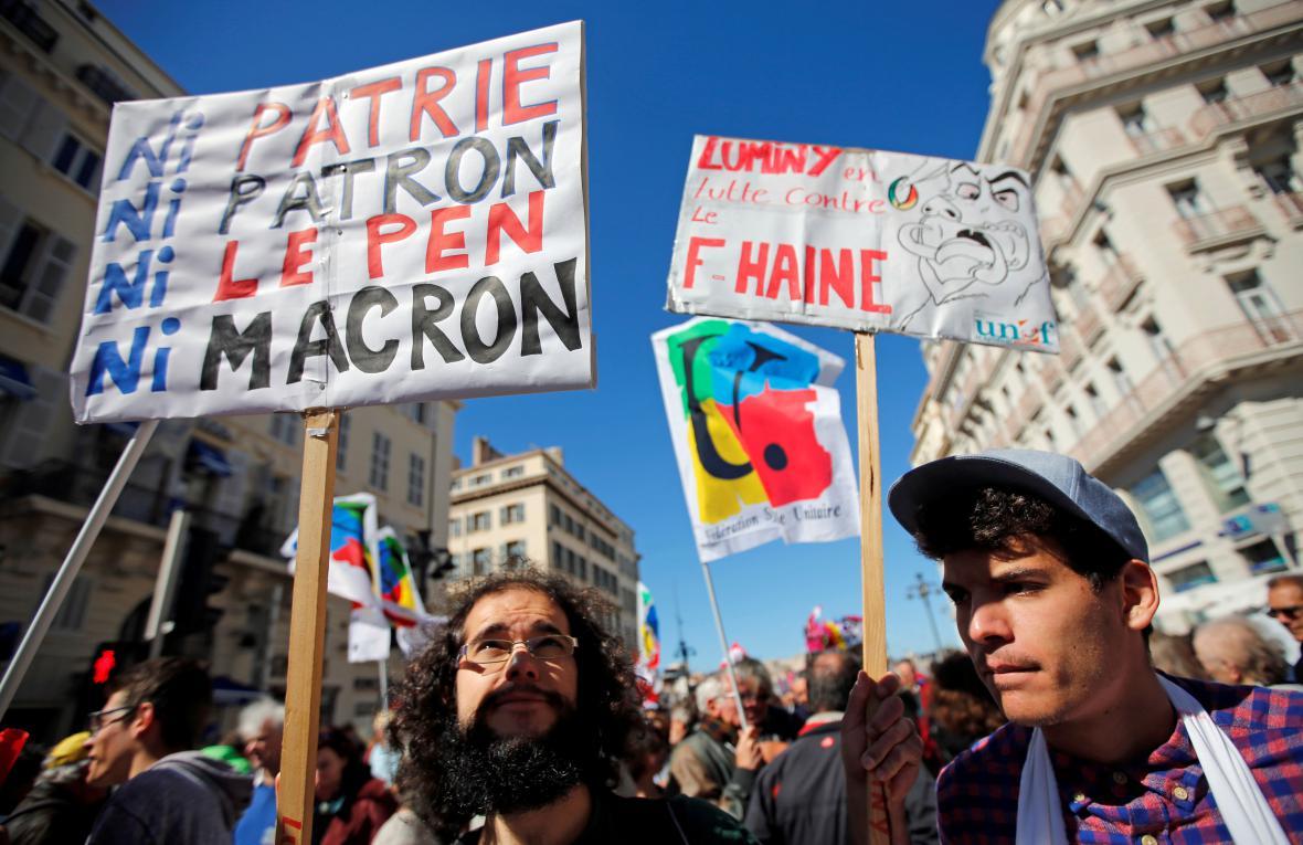 Prvomájové demonstrace v Marseille