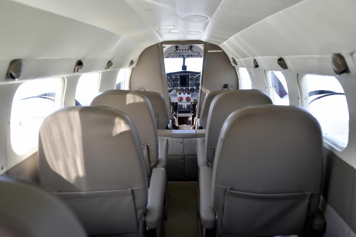 Interiér Baťova letadla