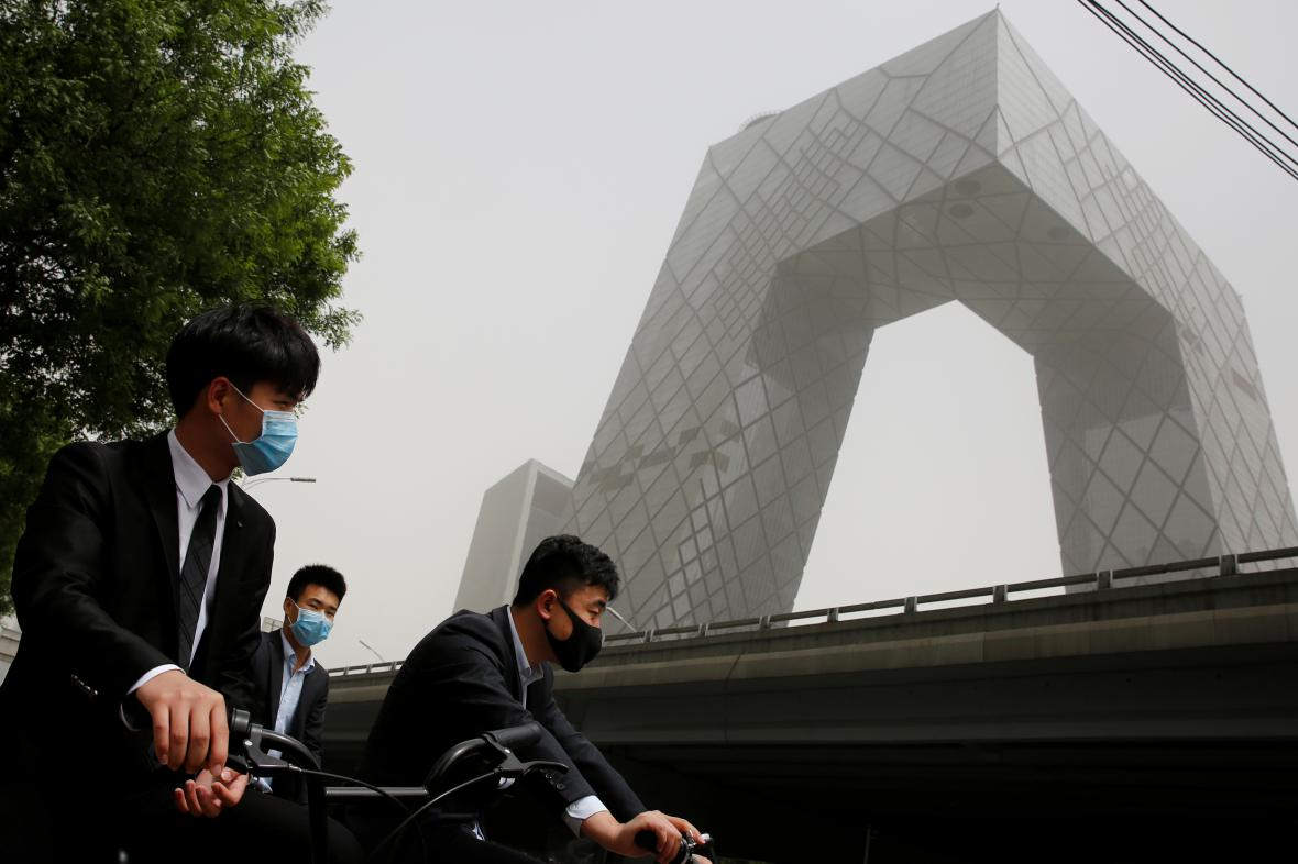 Písečná bouře v Pekingu
