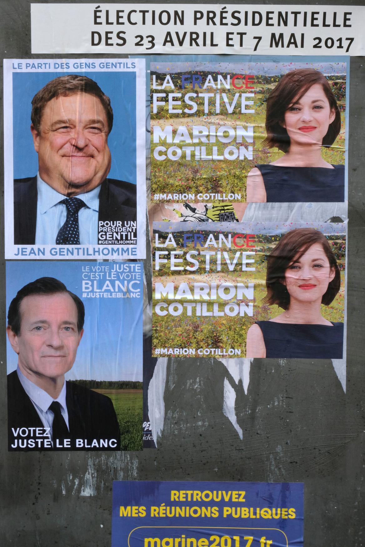 Umělecké předvolební billboardy