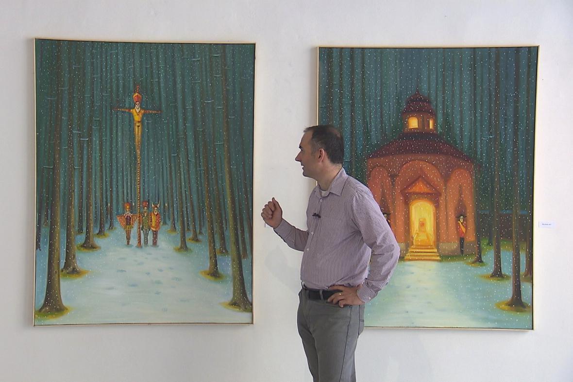 Jaroslav Valečka představuje expozici Mlčení