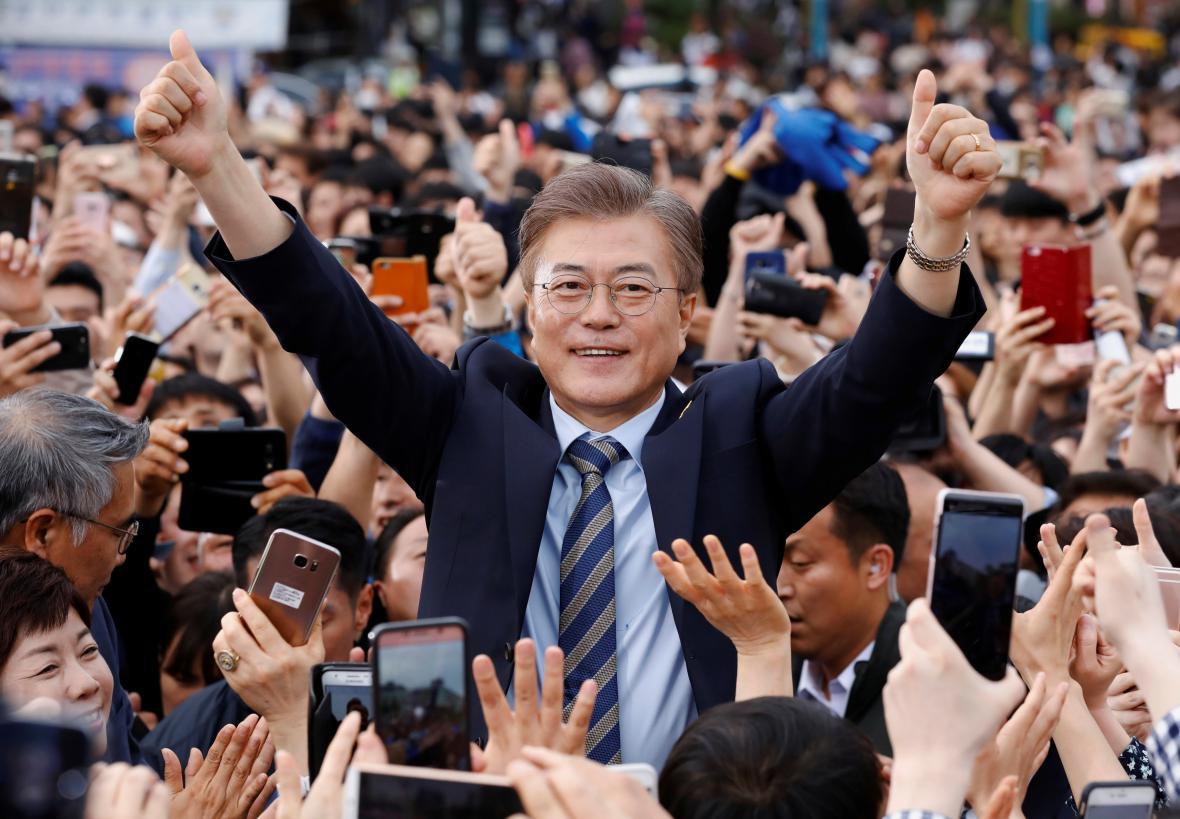 Kandidát liberálů Mun-Če-in