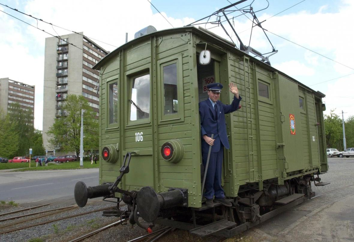 Historická nákladní tramvaj v Ostravě