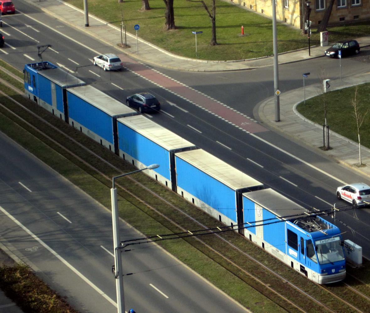 Drážďanská nákladní tramvaj