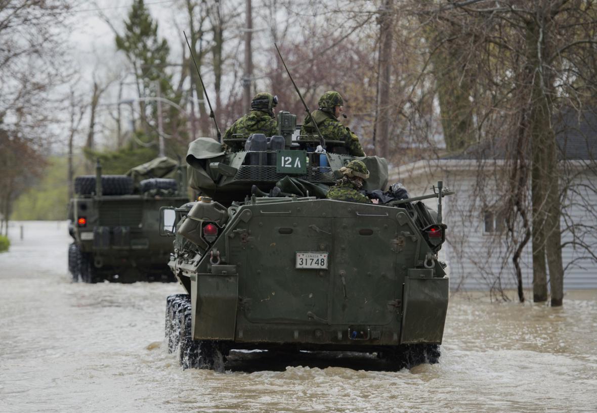 Záplavy na východě Kanady