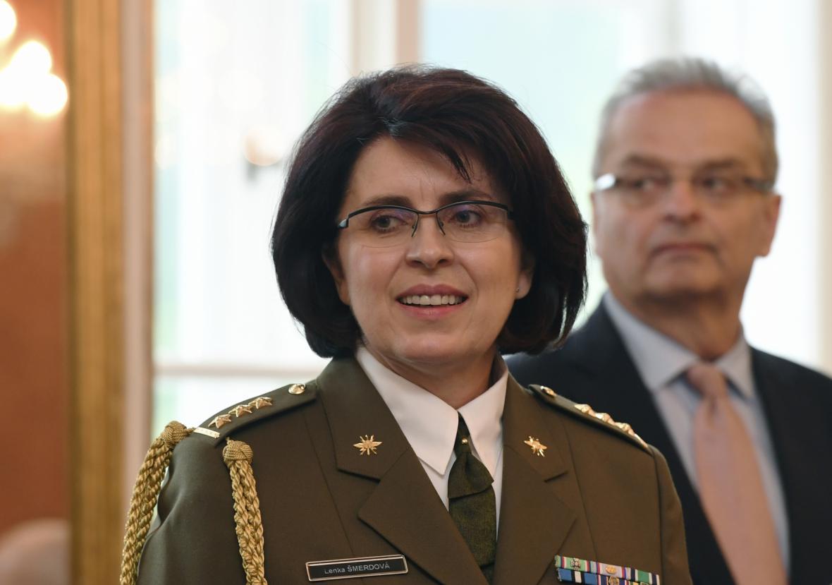 Lenka Šmerdová byla jako první žena povýšena do hodnosti generálky