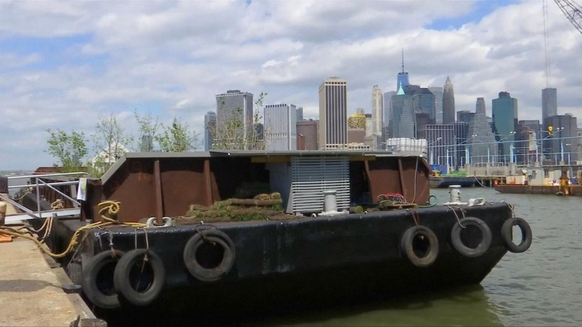 Plovoucí zahrada na Hudsonu