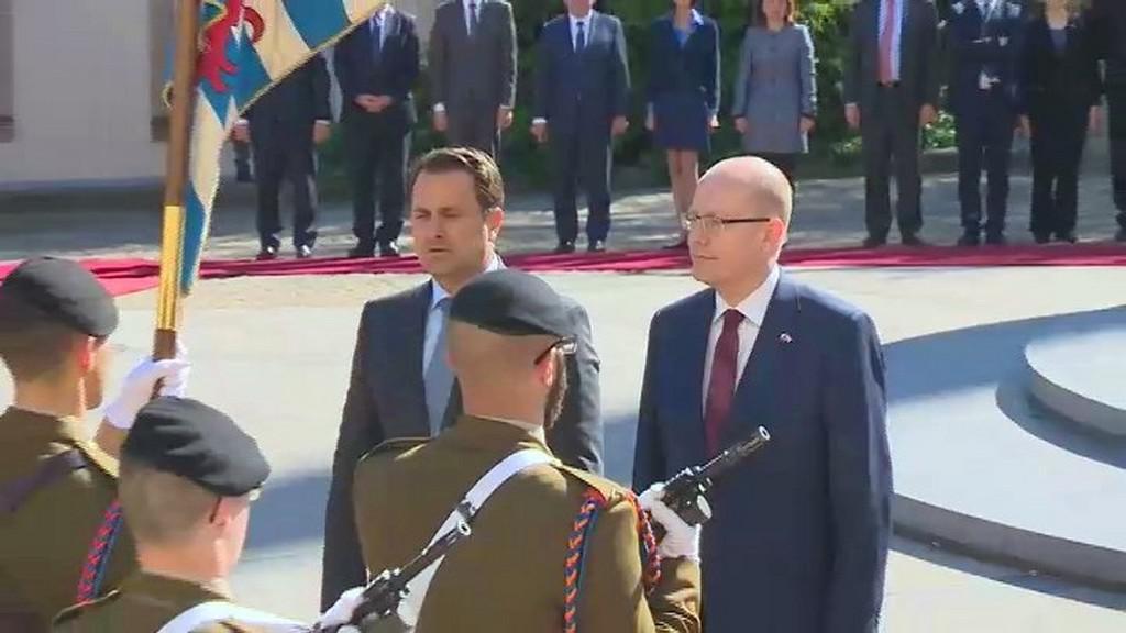 Přijetí premiéra Sobotky v Lucembursku