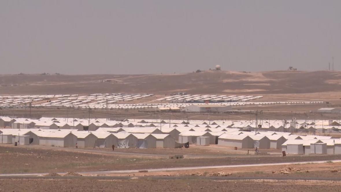 Tábor Al Azraq v Jordánsku