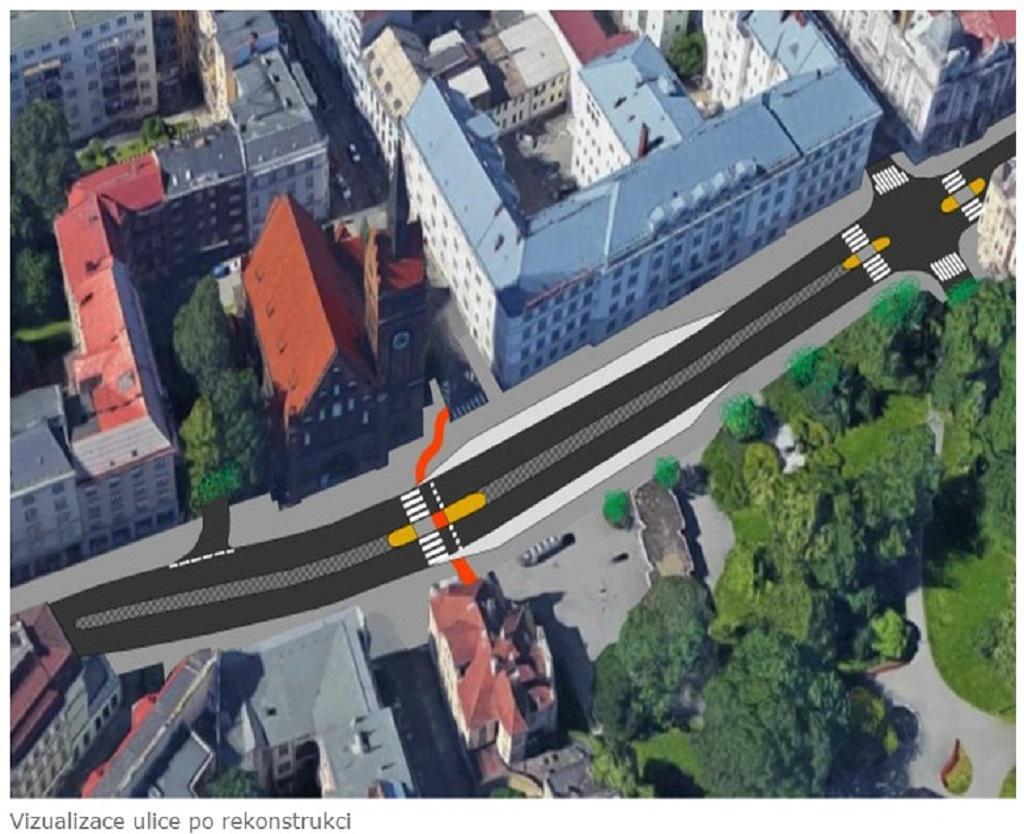 Vizualizace Českobratrské ulice po opravě
