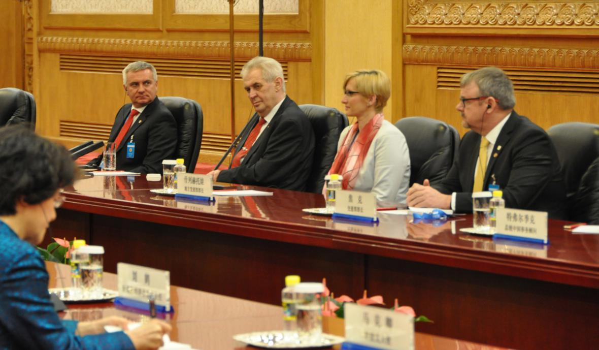Zemanova delegace v Číně