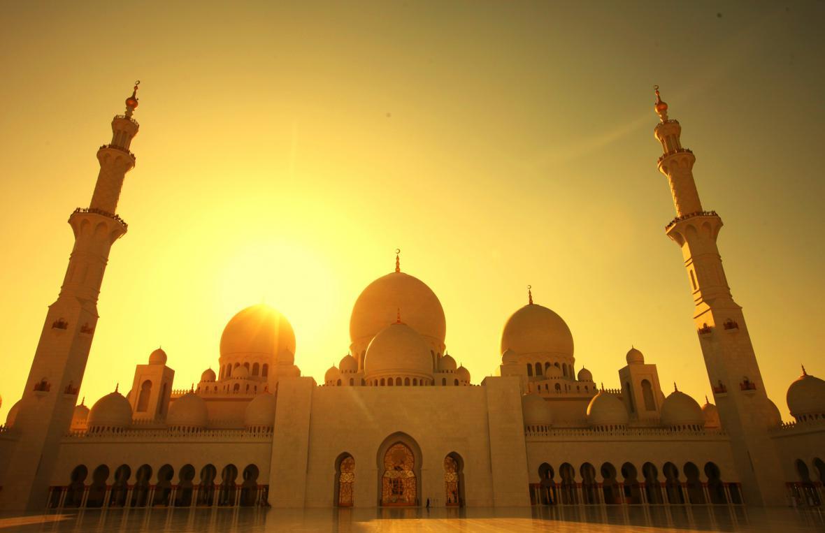 Mešita v Abú Zabí - emirátu rodu Nahjánů