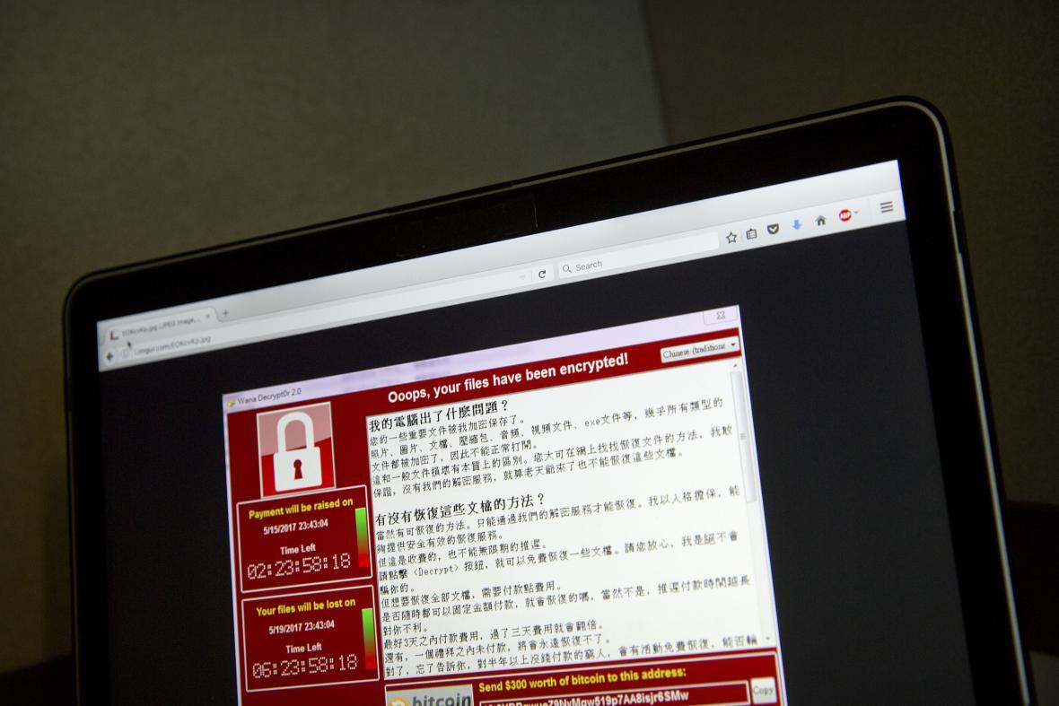 Ransomwarový kyberútok v Číně